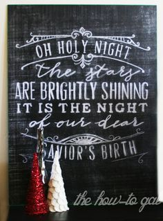 Large Christmas Chalkboard Print (engineering print at Staples)