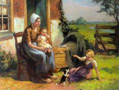 Louis Soonius, A Tranquil Sunny Afternoon