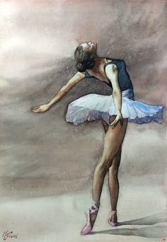 Ballerina Kunst, Ballerina Drawing, Ballet Drawings, Ballerina Painting, Ballerina Wallpaper, Art Of Noise, Ballet Art, Art Pictures, Photos
