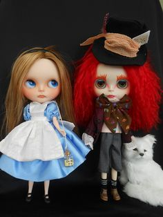 Alice and The Mad Hatter Blythe dolls