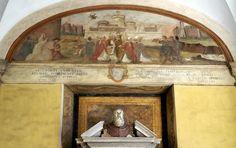 Papst Gregor I. der Große richtete 575  in seinem Elternhaus auf dem Celio ein Oratorium ein, über dem im Mittelalter eine Kirche entstand, die dem inzwischen heiliggesprochenen Papst geweihte wurde. Die Anfang des 17. Jh. neu erbaute Fassade des Atriums, ein Hauptwerk von Giovanni Battista Soria, wurde von Kardinal Scipione Borghese finanziert. Unter der entsprechenden Inschrift sind daher ein Borghese-Adler und zwei Borghese-Drachen zu sehen.  Die Fresken des Atriums stellen Szenen aus…