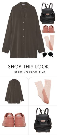 """i ain't sorry"" by ffeathered ❤ liked on Polyvore featuring Helmut Lang, Brother Vellies, Raf Simons, Alexander Wang and Ray-Ban"