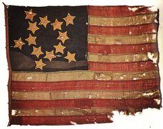 early American flag / 13 star, via steel bison