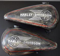 Harley Davidson Tank Ironhead airbrushed -umbeDesign-