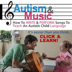 #Autism & Music: Write your first song TODAY! Click the image to watch & learn, then REPIN to get everyone singing!