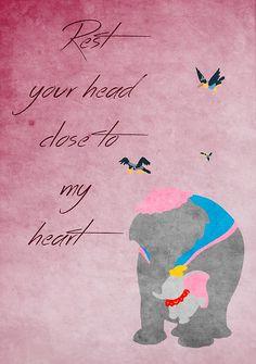 Dumbo inspired Mother's Day design.