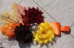 Thanksgiving Inspired Girls Headband...Fall by AmazinGems on Etsy, $9.80