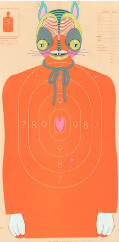 Love these slightly disturbing target shooting papers from artist Jen Davis