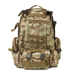 56f89a4bb2 60L Molle Outdoor Tactical Bag Pouch Shoulder Bags Camping Hiking Trekking  Backpack Rucksack with 3 Molle