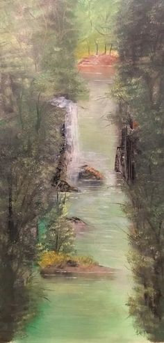Oil on canvas - 50 x 100 cm Far Away, Oil On Canvas, Waves, Paintings, Outdoor, Art, Outdoors, Art Background, Paint