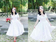 Nice 50s wedding dress