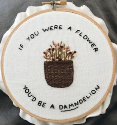 Weed love anyone who gave us this embroidery, tbh. | 21 Gifts For People Who Just Really Fucking Love Puns