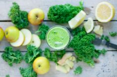 This recipe claims to cure both colds and hangovers. Remedy assurances aside, the no-frills apple, lemon, ginger and kale blend seems like the makings of a simple breakfast juice at its finest.