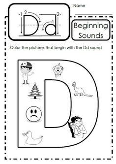 LETTER OF THE WEEK - Dd Jolly Phonics Activities, Phonics Worksheets, Alphabet Activities, Kindergarten Worksheets, Teaching Letters, Preschool Letters, Alphabet Letters, Kindergarten Writing, Alphabet