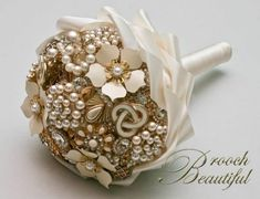 gold and ivory centerpieces | ... bouquet cream floral flowers gold inspiration ivory pearl white Gold