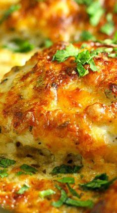 Smothered Cheesy Sour Cream Chicken ~ Quick, easy, and delicious!