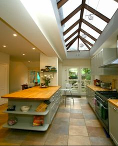 Kitchen glass roof