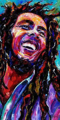 Bob Marley Reggae Portrait Painting  - Bob Marley Reggae Portrait Fine Art Print