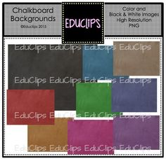 ~FREE~ Chalkboard Backgrounds Clip Art Bundle