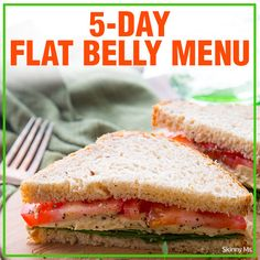 5-Day Flat Belly Menu - delicious and healthy recipes to help you get and maintain a flat belly!  #flatbellyrecipes #cleaneatingrecipes