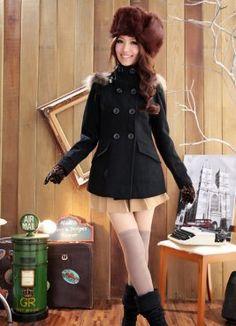 $41.29 hooded coats,apricot coats,warm coat