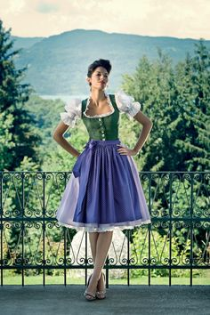Simple blue and green dirndl