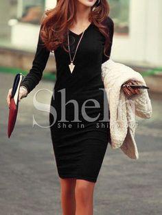 Shop Black Knee Length Sheath Dress online. SheIn offers Black Knee Length Sheath Dress & more to fit your fashionable needs.