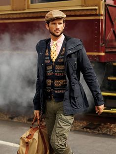 Classic textiles of a gentleman's wardrobe are reworked for Polo Fall 2013 Dapper Gentleman, Gentleman Style, Ivy League Style, Gentleman's Wardrobe, Ivy Style, Polo Ralph Lauren, Preppy Style, Stylish Men, Mens Suits