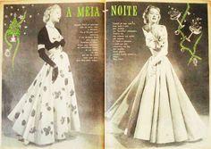 Nos anos 1950, os bailes de debutantes e festas de casamento eram ocasiões aguardadíssimas, que demandavam meses e até anos de preparação. Os lindos modelos com saias amplas e tecidos luxuosos do período são raridades atualmente.