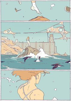 """turndecassette: """"at it again with the flying girls (ch. 01 p. 7 & 8) """""""