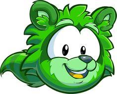 club penguin raccoon puffle   Puffle green1008 paper