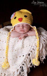Yellow Chick Baby Crochet Hat