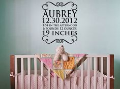 Baby name birth day time weight and length personalized for free, by designstudiosigns, $37.00