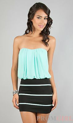Short Casual Strapless Dress