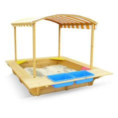 Outward Play Play Fort Wood Sandbox with Canopy - OUT110