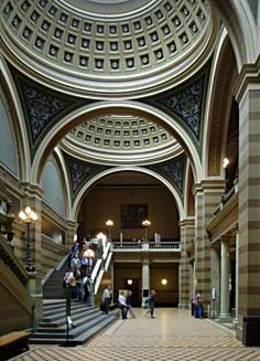 Entrance hall of Uppsala University main building...
