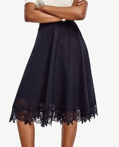 Ann Taylor - Tall Lace Swing Skirt, women, fashion, clothing, clothes, style