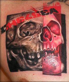 Tattoo Artist - Adamik Erik - skull tattoo