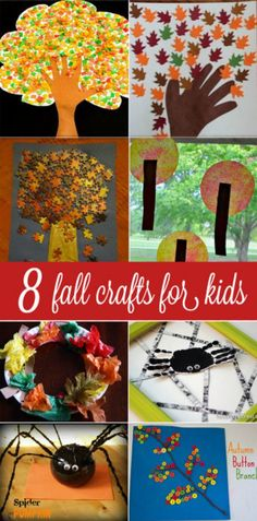 8 Fall crafts for kids to make that are absolutely gorgeous! ☮ re-pinned by http://www.wfpblogs.com