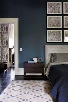 dark indigo blue bedroom moroccan rug charlotte minty interior design a beautifully restored - Blue Bedroom Colors