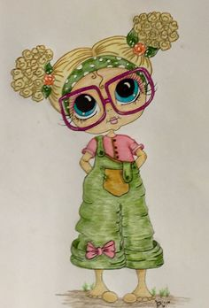 quenalbertini: Bestie close-up by Kay Wright Emerson Besties, Coloring Books, Coloring Pages, Clip Art, Copics, Whimsical Art, Digital Stamps, Big Eyes, Rock Art