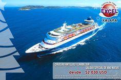 Crucero Antillas y Caribe Sur Salida especial de Año Nuevo | Agencia de Viajes en Xalapa Excel Tours