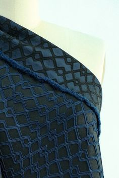 Folie Black and Cobalt Brocade Woven
