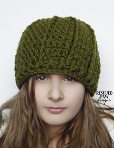 Crochet Pattern Swirl Hat - Rescued Paw Designs