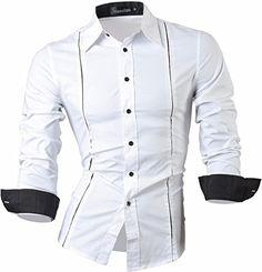 jeansian Men's Slim Fit Long Sleeves Shirts 1902 White XL... https://www.amazon.com/dp/B01MXOIAV8/ref=cm_sw_r_pi_dp_x_-Uanyb7G35E3T