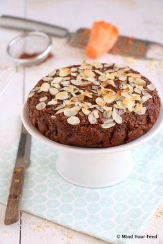 Zoete aardappel chocolade taart - Mind Your Feed