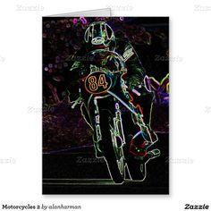 Motorcycles 2 greeting card