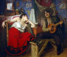 Fado , painting by José Malhoa Fado is a music genre which can be traced to the in Portugal, but probably with muc. Motif Music, Portuguese Culture, Like A Local, Artist Names, Artist At Work, Art History, Art Boards, Oil On Canvas, Original Paintings