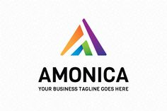 Amonica Logo Template by mudassir101 on Creative Market