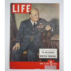 Life Magazine, Original Cover, Winston Churchill, April 19 1948. (Etsy)